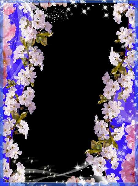 Flower frame for Photoshop - Spring Flowers
