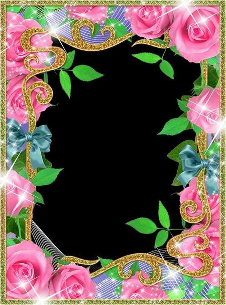 Women's Frame for Photoshop - Pink tenderness