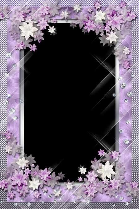Flower frame for Photoshop - Delight