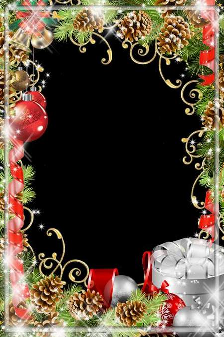 Holiday Frame for Photoshop - Happy New Year (free frame psd + free frame png)