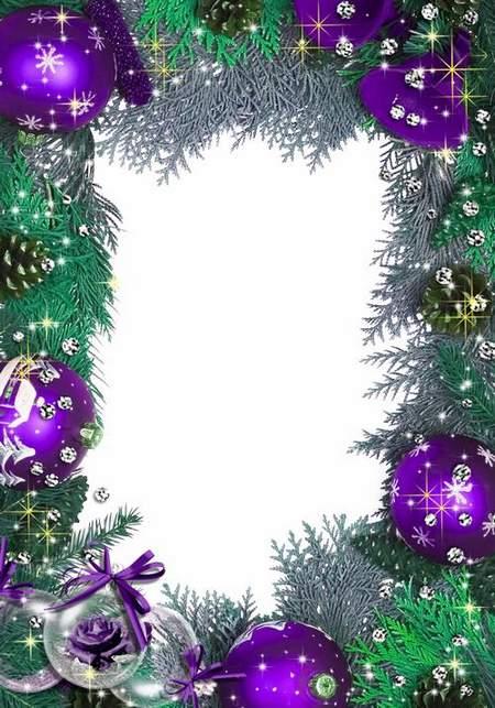 Festive frame for Photoshop - Christmas Fantasy