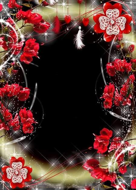 Frame for love - Bright feeling love (free frame psd + free frame png)