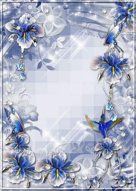 Free frames Photoshop download - fantasy world of flowers