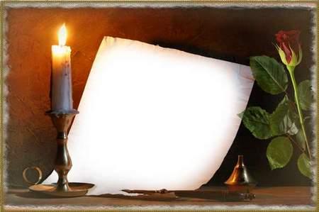 Romantic Frame For Photo I Write To You Free Psd Frame
