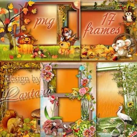Set autumn frames png - free 17 photo frames png download