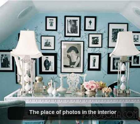 The place of photos in the interior