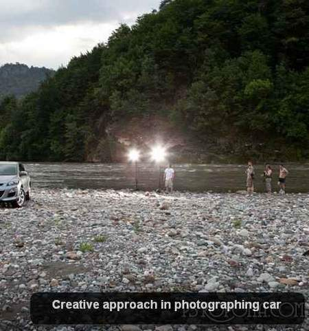 Creative approach in photographing car