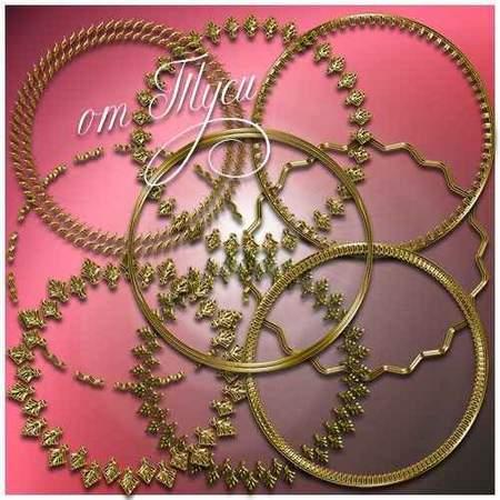 Round free PNG frames necklines - 30 PNG gold frames free download
