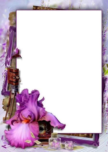 Photoshop frame with flower download (free frame psd + free 4 frame png)