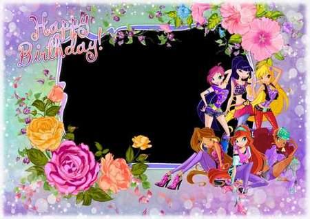Children birthday photoshop frame download - free frame psd