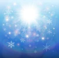 winter backgrounds with snowflakes and bokeh effect (18 Jpg)
