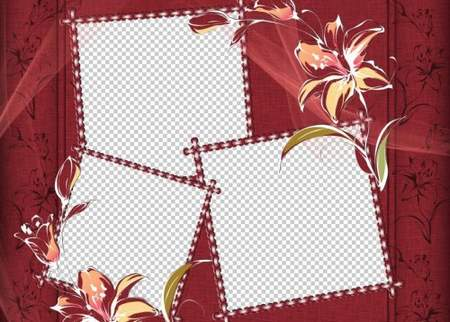 Templates for artwork (wedding, personal or family) 5 PSD files