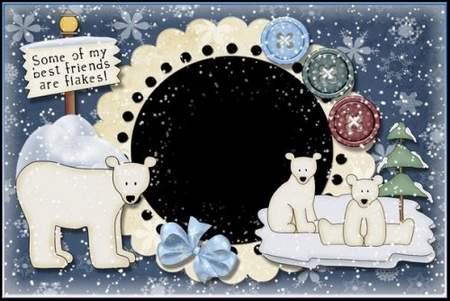 Kids photo frames Snow and Bears