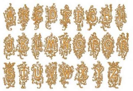 Latin alphabet psd