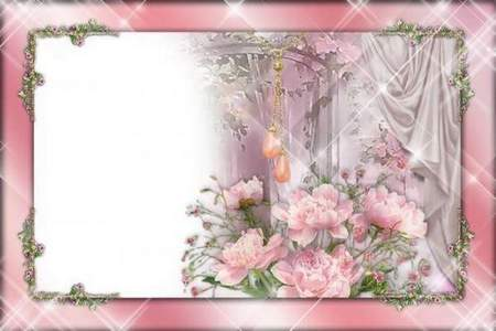 Women's Frame for Photoshop - Favorite Flowers (free frame psd + free frame png)