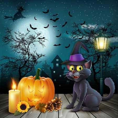 Halloween layered psd - free psd file download