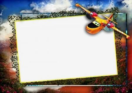 Photo frame for a boy Airplane Dipper