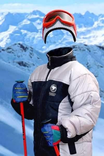 Photoshop psd - boy skier