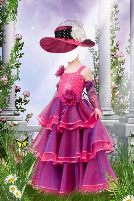 Girl in the lush dresses - 3 psd for Photoshop
