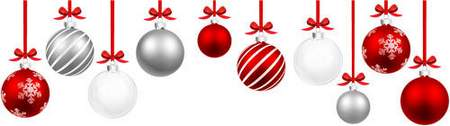 Christmas balls psd, Christmas tree branches psd - free clipart psd ( 9 layers, transparent background)