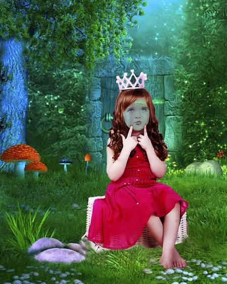 Kids girls in dresses psd Fairy Princess