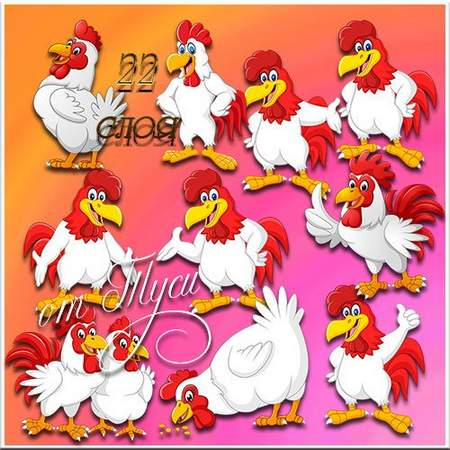 Rooster Clipart psd Symbol 2017