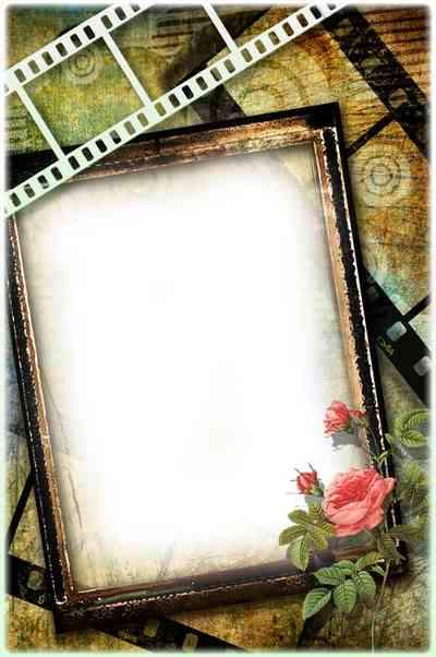 Frame png for photo - Retro cinema ( free frame png, free download )