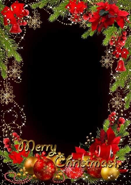 Photo frame for 2014 - Golden shine of Christmas