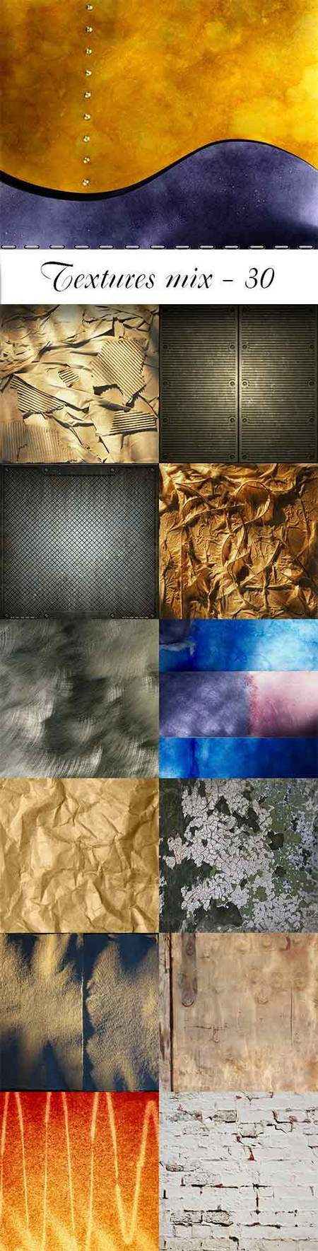 Textures mix - 25 jpeg, max 6000 x 6000 px, free download
