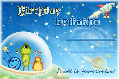 Kids Birthday Invitation psd