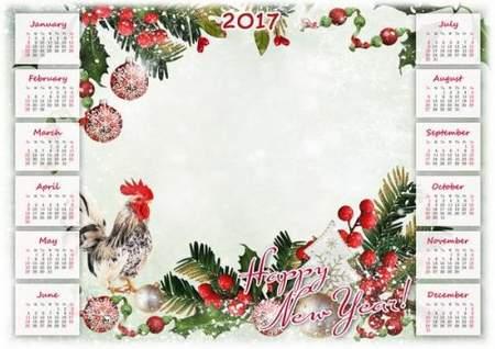 New Year Calendar 2017 psd