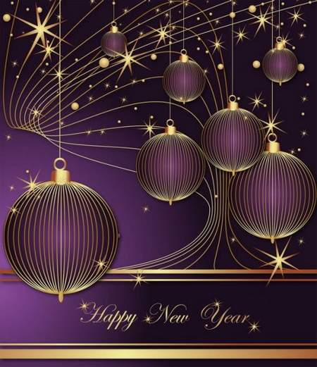 layered PSD backgrounds for design - New Year