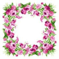 Free Decorative floral frame psd - 22 psd frame (layered)
