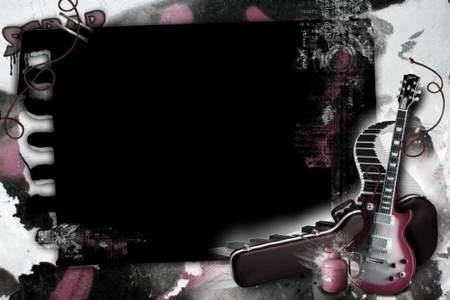 Photo frame - Soundtrack for graffiti (free frame psd + free frame png)