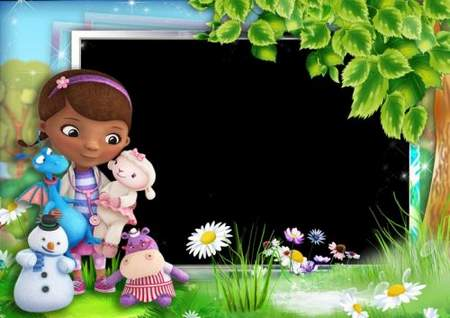 Children's frame for photoshop – Doc mcstuffins and her friends