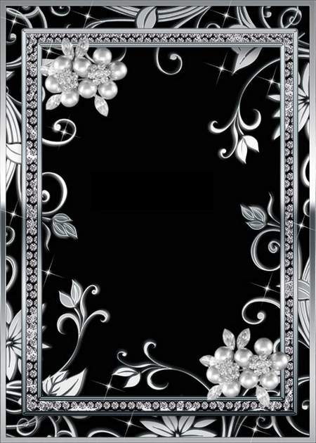 Free psd Frame for Photoshop -  Silver