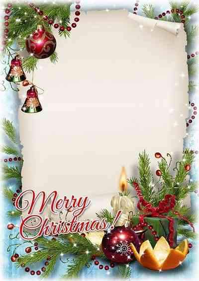 Beautiful Christmas photo frame psd  - ( free Christmas frame psd, free download )