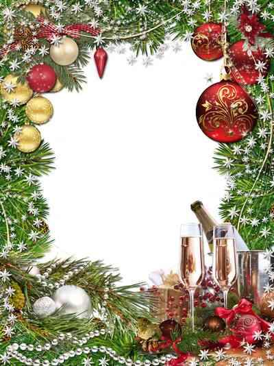 Christmas frame psd - Let the New Year brings only happiness
