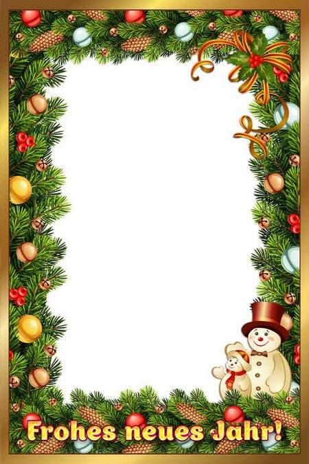 Photoshop Calendar psd + New Year photo frame psd