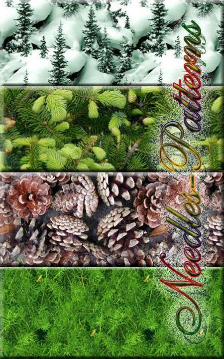 Fill for Photoshop - Conifers for the New Year