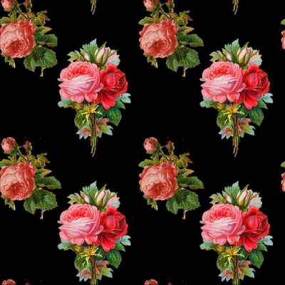 Patterns for photoshop - Vintage roses on a transparent background ( free patterns .pat, free download )