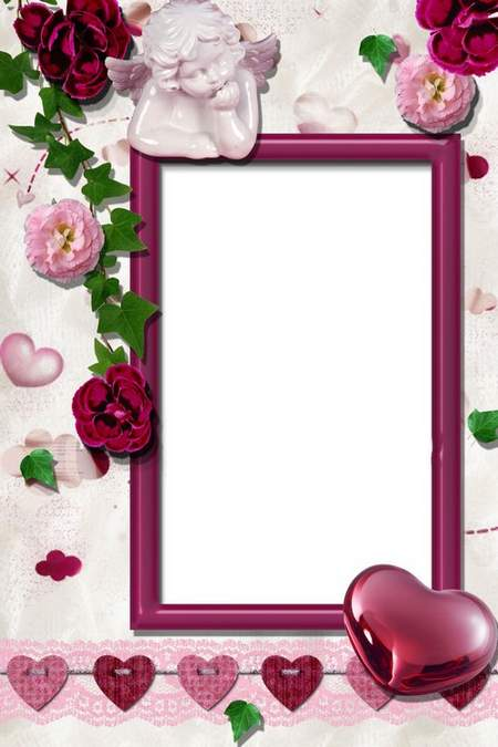 Frame for Photoshop - For lovers ( free frame psd, free download )