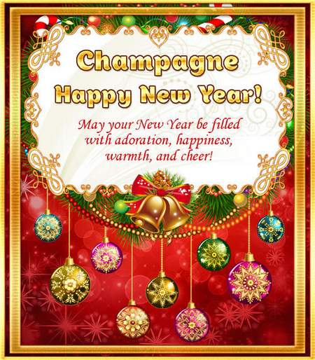 Champagne label psd - New Year's party ( free psd file, free download )