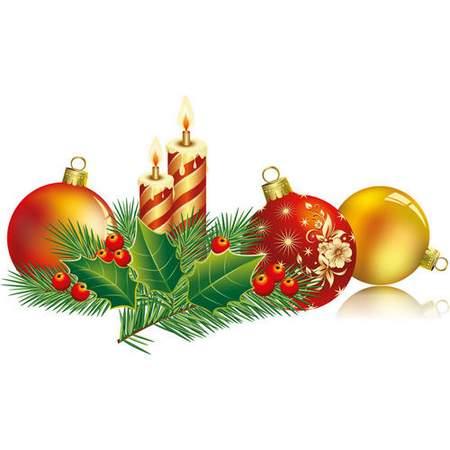Christmas Clip Art Psd Beads Christmas Tree And Balls Free