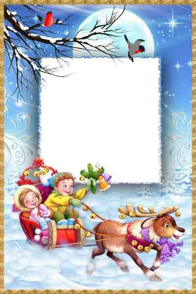 Winter photo frame psd ( free frame psd, free download )