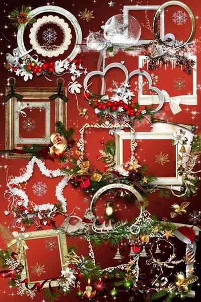 Christmas frames png for your creativity - free 25 frames png