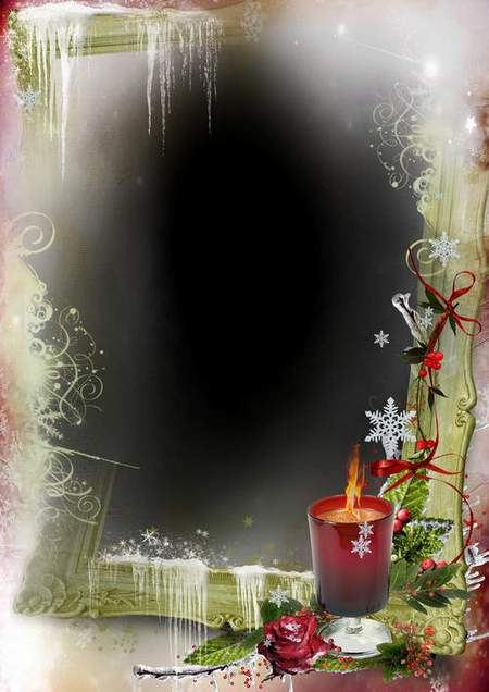 Photo frame psd + 4 frames png - Your winter evening