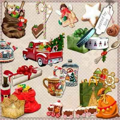 Christmas gifts png, Christmas sweets png, Christmas tableware png - free 84 png images download