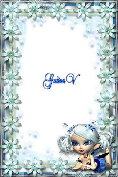 Children's Framework psd - Flower Fairy (free frame psd + free frame png)