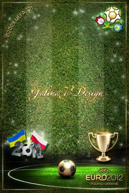 Men's Sport Frame for Photoshop - Euro 2012, Poland-Ukraine